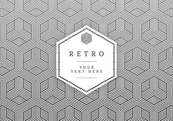 Retro Label on Hexagonal Texture - vector gratuit #351393