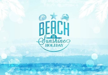 Label Summer Beach Seascape - vector gratuit #351473