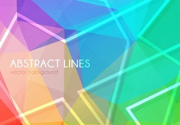 Abstract Colorful Polygonal Background - vector gratuit #351523