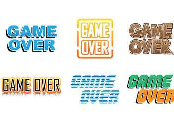 Game Over Collections - vector gratuit #351673