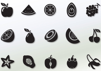 Solid Fruit Vector Icons - vector gratuit #351723
