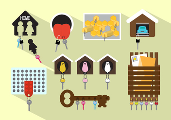 Vector Set of Different Keyholders - vector gratuit #351753