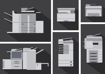 Vector Set of Photocopier Machines - бесплатный vector #351773