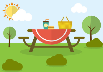 Family Picnic in Vector - Free vector #351793