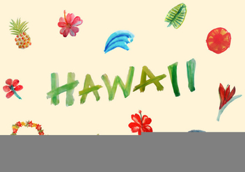 Free Hawaiian Vector Elements - vector gratuit #351873