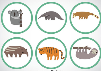 Wild Animal Vector Sets - бесплатный vector #351913