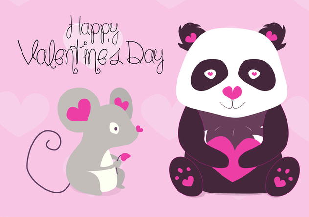 Free Valentines Animals Vector - бесплатный vector #351983