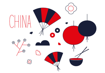 Free China Town Vector - vector #351993 gratis