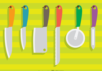 Hanging Knife Sets Vector - бесплатный vector #352093