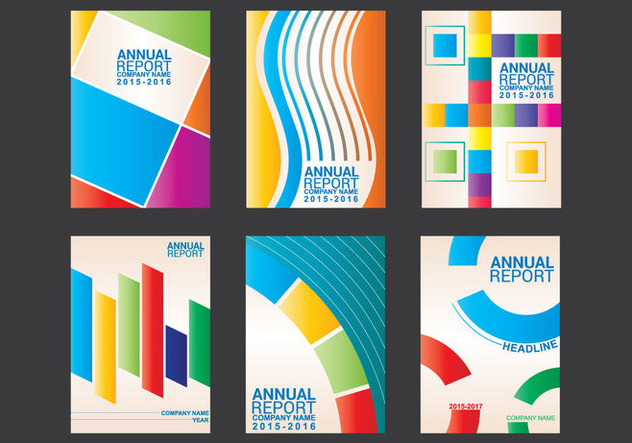 Annual Report Design Vector - Free vector #352103