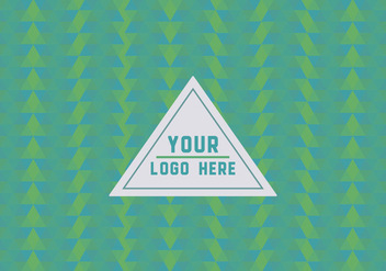 Free Green Geometric Logo Background - Kostenloses vector #352113
