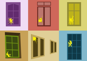 Cracked Windows Vector - vector #352123 gratis
