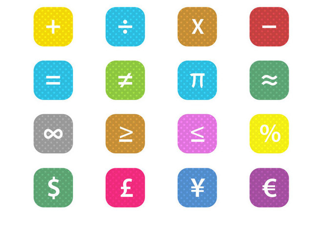Free Math Financial Symbols Vector - Kostenloses vector #352183