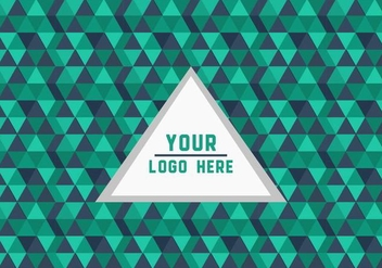 Free Green Triangle Geometric Logo Background Vector - бесплатный vector #352213