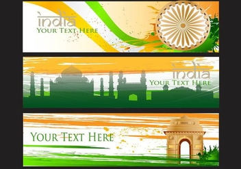 India Gate Vector Banner Background - vector gratuit #352273