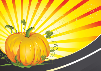 Pumpkin Patch Vector Background - Free vector #352283