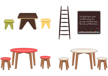 Kids Furniture - бесплатный vector #352353