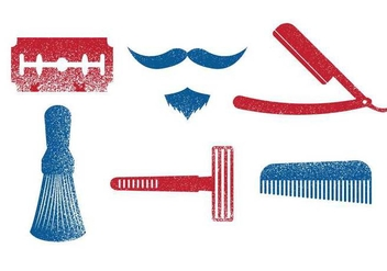 Barber Tools Vector - vector #352373 gratis