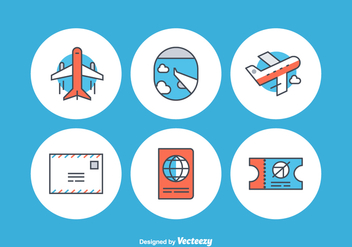 Free Airplane Vector Icons - бесплатный vector #352383
