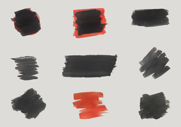 Free Black and Red Vector Brush Shapes - Free vector #352433