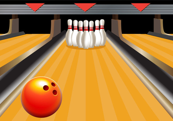 Bowling Alley Vector - бесплатный vector #352443