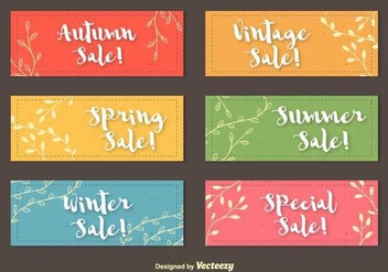 Seasonal Colourful Labels - vector gratuit #352453
