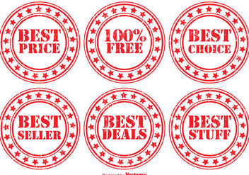 Distressed Promotional Vector Badge Set - Kostenloses vector #352503
