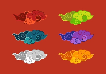 FREE CHINESE CLOUD VECTOR - vector gratuit #352573