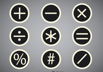 Math Symbols Circle Vector Sets - бесплатный vector #352583