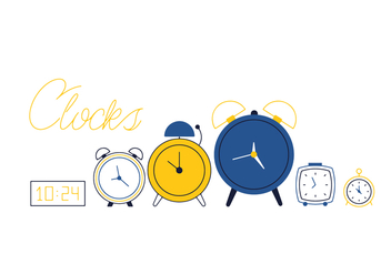 Free Clocks Vector - vector #352593 gratis