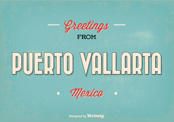 Puerto Vallarta Mexico Greeting Illustration - бесплатный vector #352673