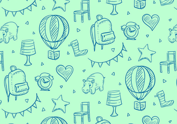 Kids Stuff Pattern - vector #352693 gratis
