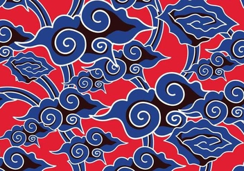 Batik Background Vector - Free vector #352713