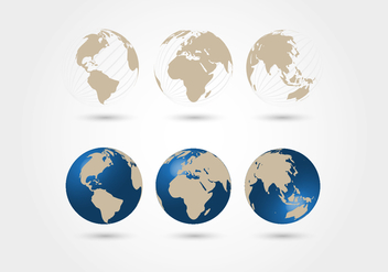 Worldmap Spheres Vector - Free vector #352743