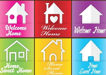 Welcome Home Cards - Free vector #352763