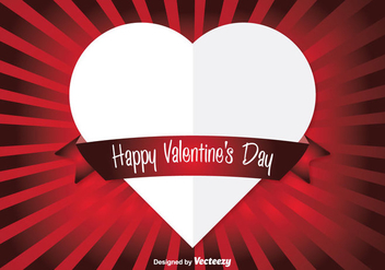 Vector Heart Valentine's Background - vector gratuit #352803