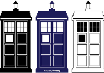 Tardis Vector Silhouette Shapes - бесплатный vector #352833