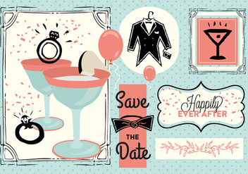 Free Save The Date Vector - vector #352843 gratis