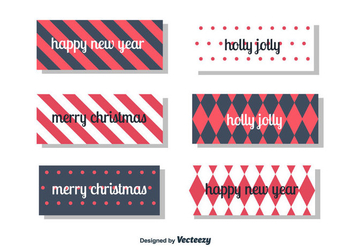 New Year's and Christmas card - vector gratuit #352893