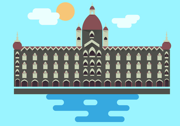 Mumbai Monument Illustration Vector - vector gratuit #353023