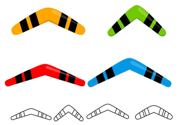 Free Boomerangs Set Vector - Free vector #353063