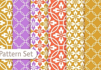 Colorful Geometrc Pattern Set - Free vector #353073