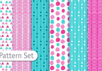 Cute Fun Decorative Pattern Set - vector gratuit #353083