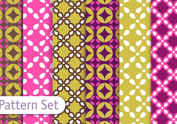 Geometric Retro Pattern set - vector gratuit #353103