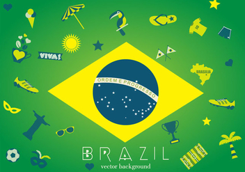 Brazil Background - vector gratuit #353153