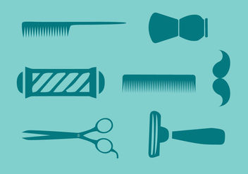 Barber Tools Vector - Free vector #353163
