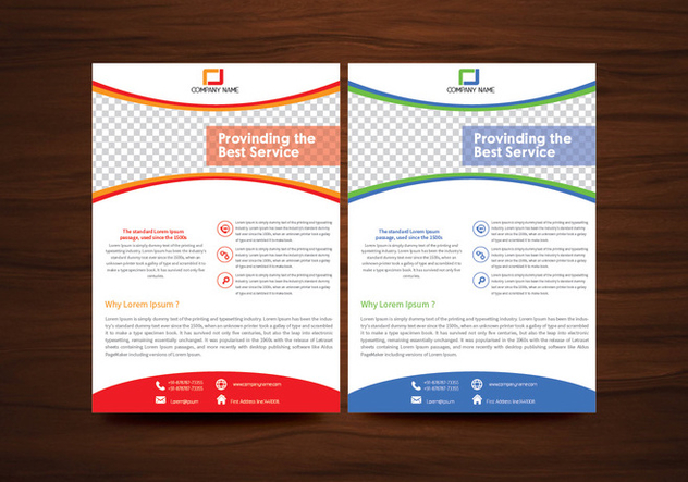Vector Brochure Flyer Template Vector - Kostenloses vector #353173