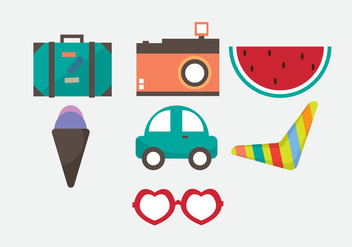 Free Vacation Vector Icons - vector gratuit #353243