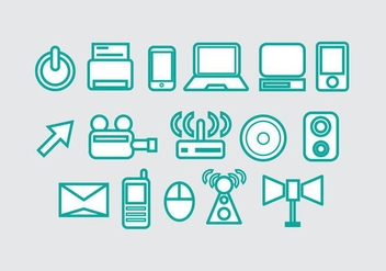 Free Technology Vector Icon #2 - vector #353273 gratis