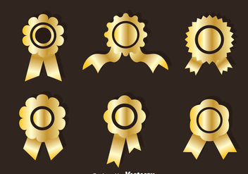 Golden Cockade Vector Sets - vector #353383 gratis